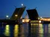 Дворцовый мост, Эрмитаж, Зимний Дворец, фото, ночной вид